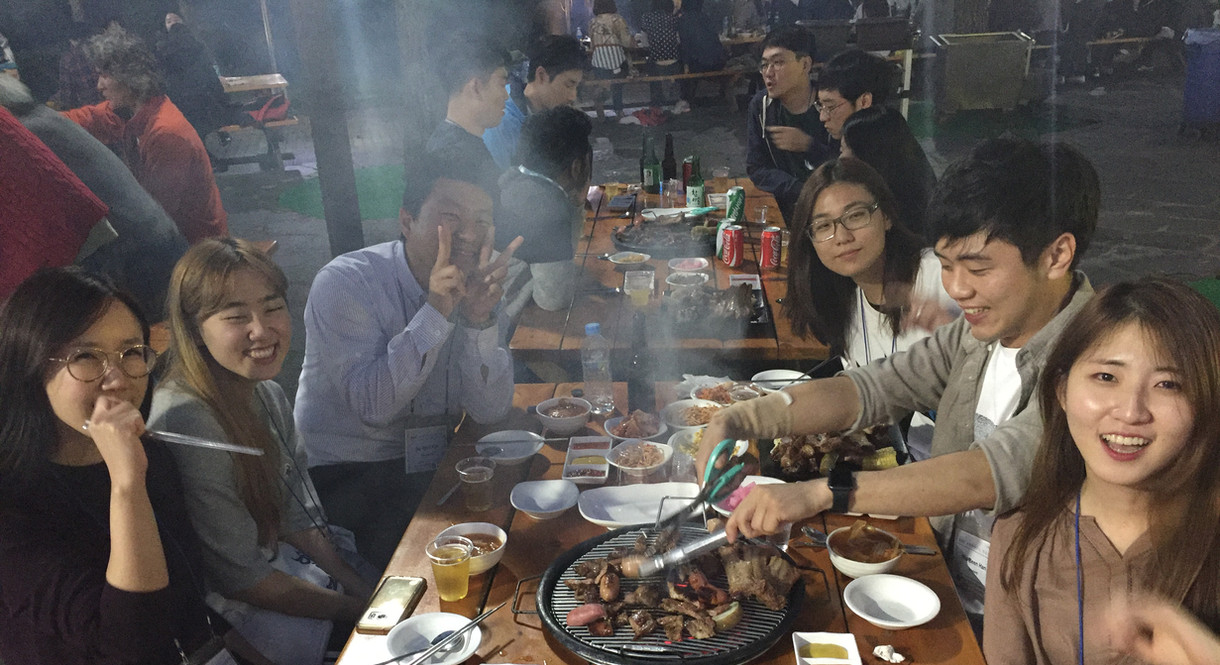 BBQ party at BSI conference - 2018 Fall.
