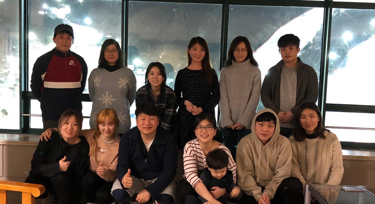 Group photo at sky resort