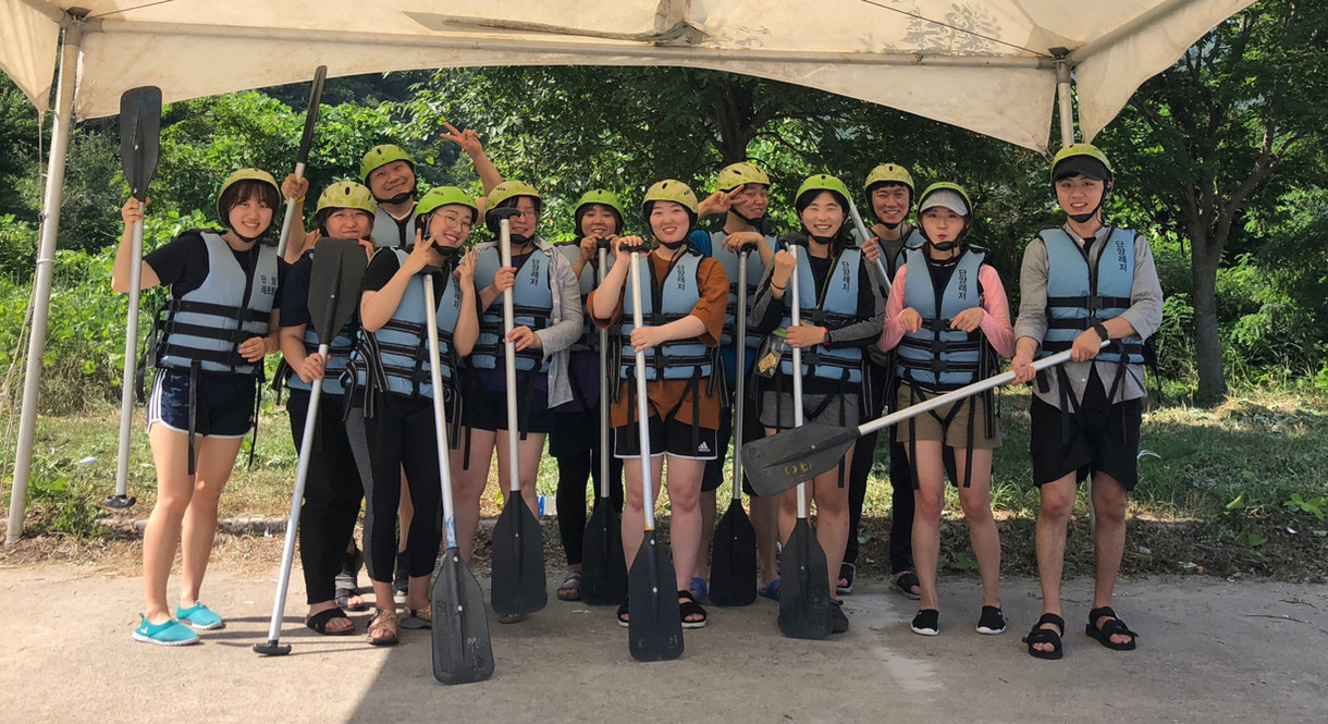 Group photo before rafting - 2017 Summer