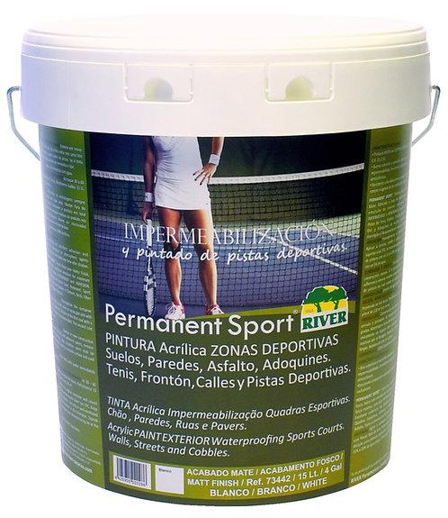 Permanent Sport Pintura Pavimentos 15 Lt. ROJO TENIS