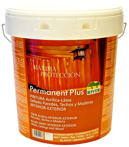 Permanent Plus Interior-Exterior 15 Lt. BASE TINTES OSCUROS