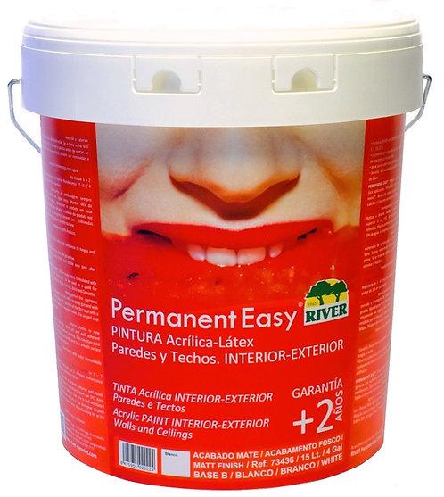Permanent Easy Pintura Interior-Exterior 15 Lt. BLANCO / BASE TINTES PASTELES