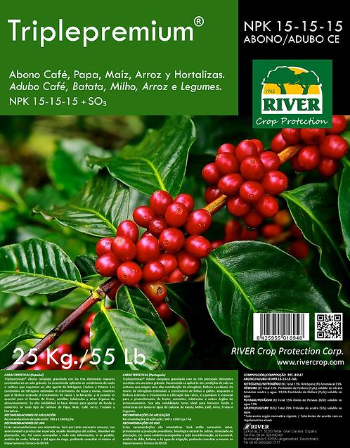 TRIPLEPREMIUM ABONO CAFÉ Y FRUTALES NPK 15-15-15 + SO₃