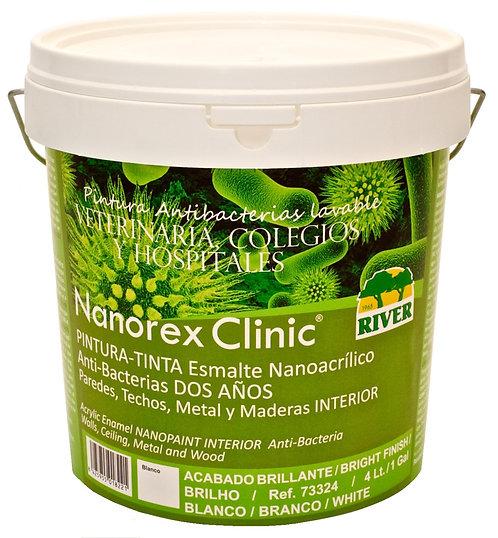 Nanorex Clinic Esmalte Acrílico Antibacterias 4 Lt. BLANCO