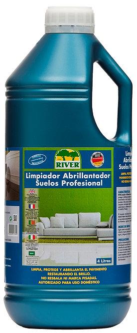 Limpiador Abrillantador Suelos-Pisos Profesional 4 Lt,