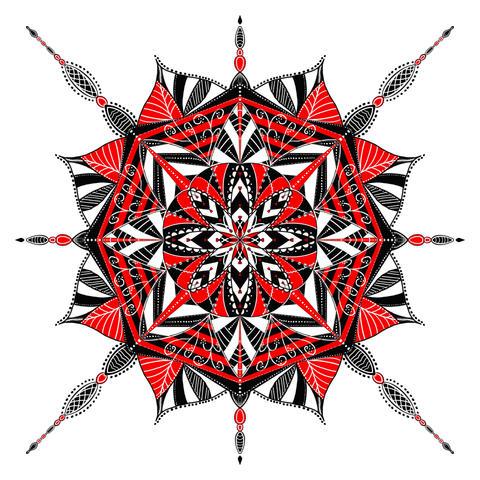 Red, White, Black Mandala