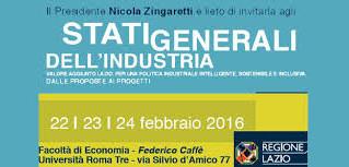 Stati Generali dell'Industria: tre giorni di industrializzazione e sviluppo