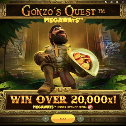 Gonzo's Quest MegaWays™ available at VIPs Casino