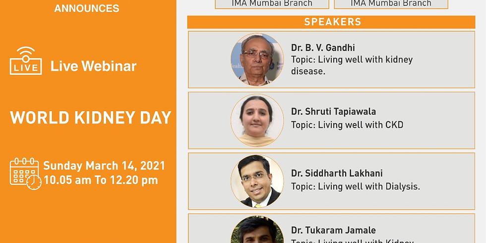IMA MUMBAI BRANCH ANNOUNCES Webinar on World Kidney Day