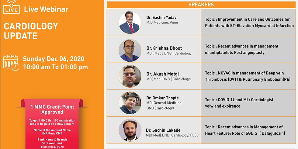 """""""CARDIOLOGY UPDATE"""" - by IMA Pune in association with HRUDAYSPARSH CARDIAC TEAM"""