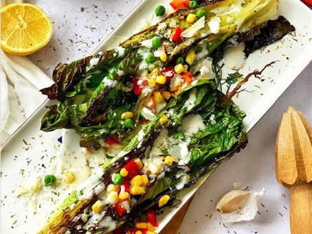 Grilled Romaine and Corn Salad with Summer Dressing