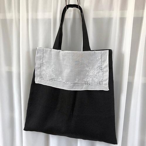 ショッピングバッグ『リネン&ヴィンテージレース』
