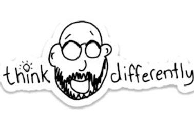 Think Differently Sticker