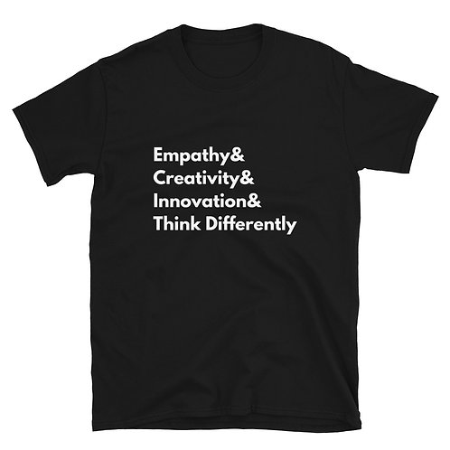 Think Differently Helvetica T-Shirt (black)