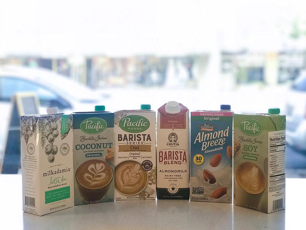 Milk Choices: The Palm Coffee Bar