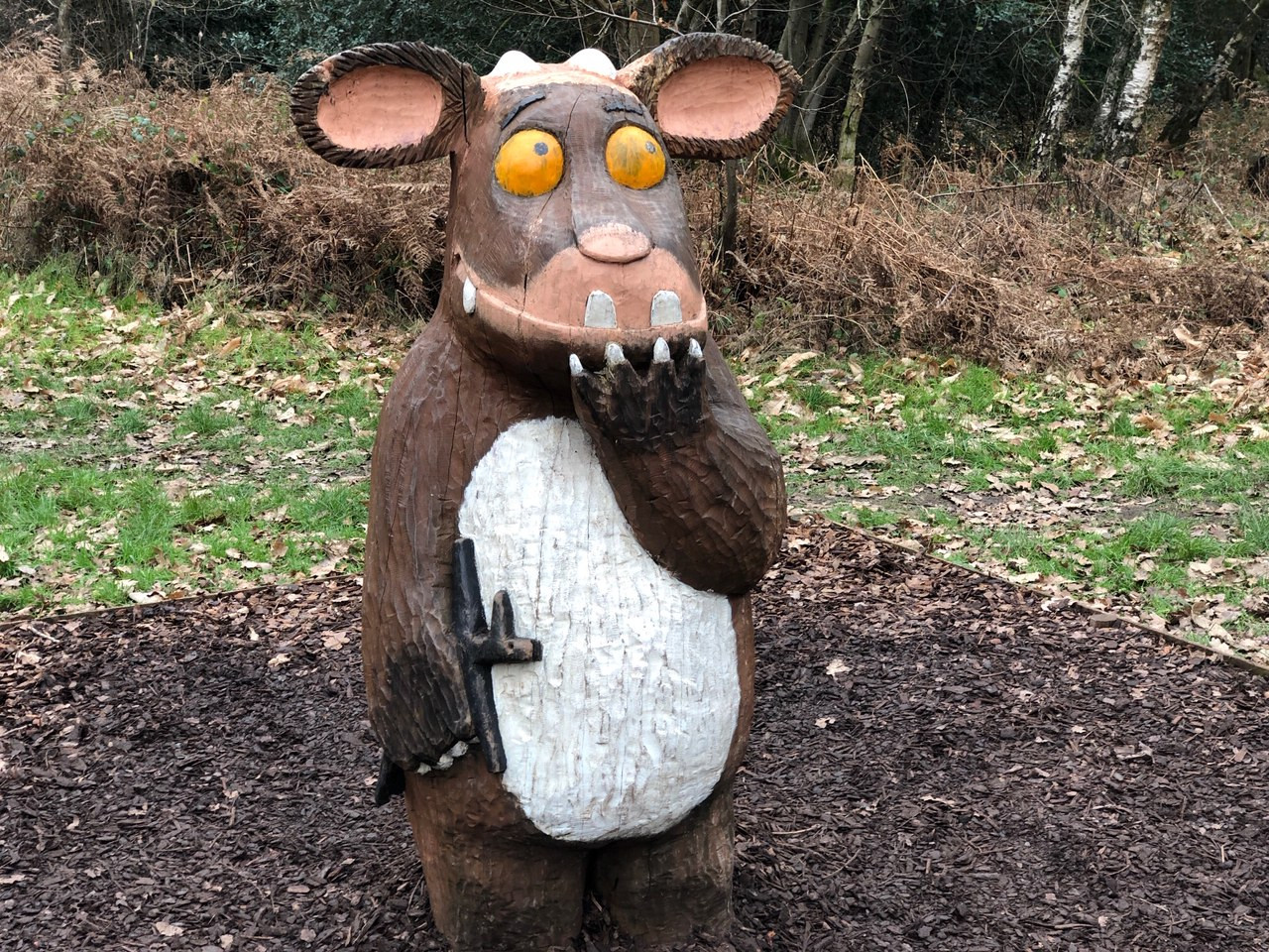 Sculpture of The Gruffalo's Child, Alice Holt Forest