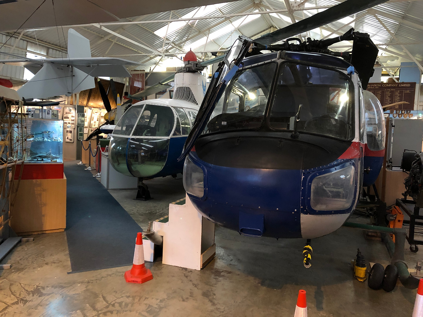 Helicopter at the Museum of Berkshire Aviation.