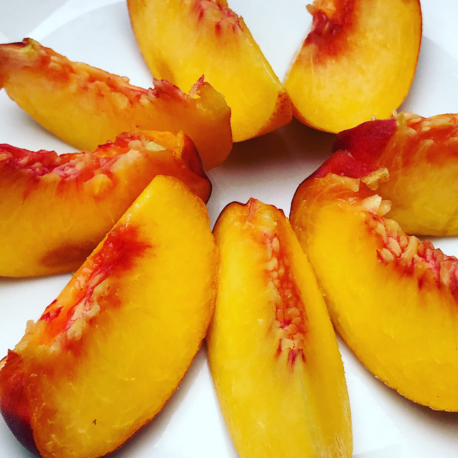 One of our delicious home grown peaches