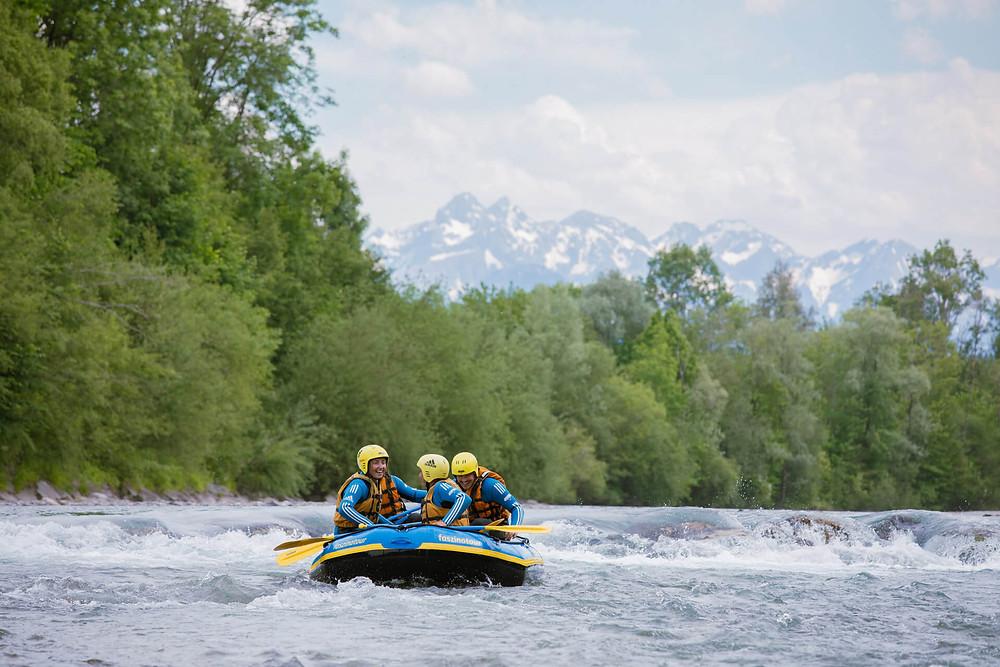 Rafting auf der Iller im Allgäu |Foto: Alex Fuchs