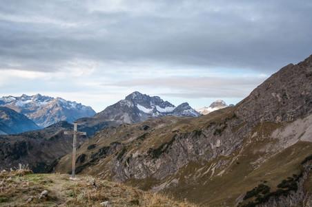 Blick ins benachbarte Vorarlberg in Richtung Warth