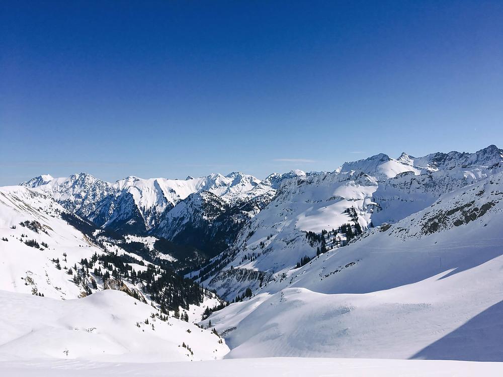 Blick vom Zeigersattel in Richtung Hintersteiner Tal