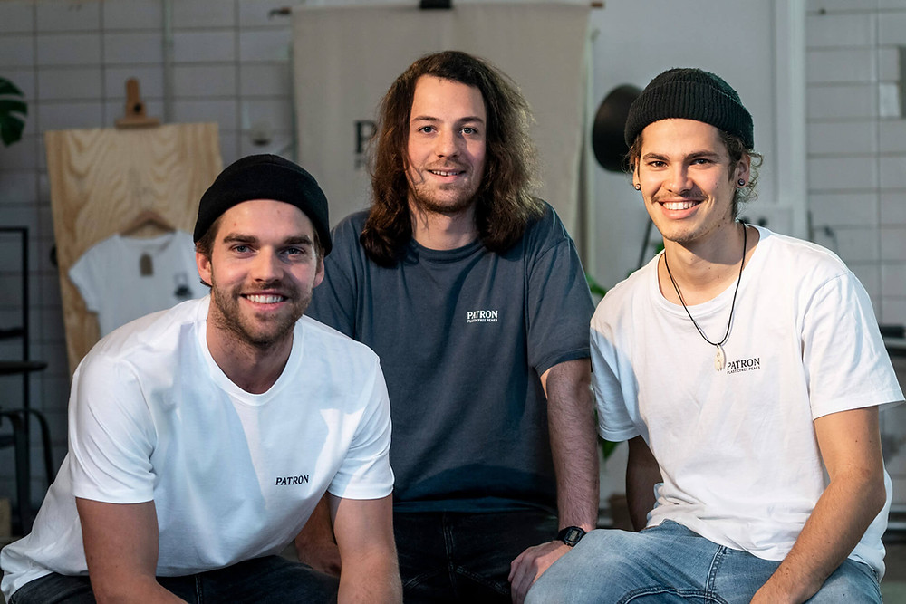 Martin, Raphael und Simon, die Gründer von Patron Plasticfree Peaks