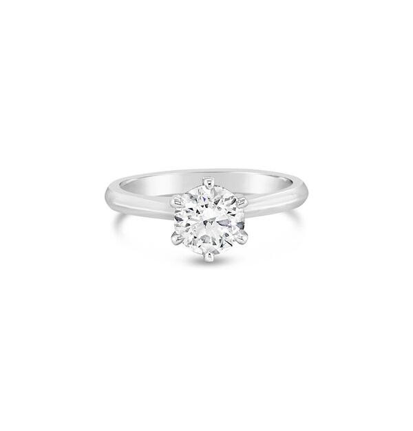 0.90ct F/SI2 Round Brilliant Cut Solitaire GIA Certified Diamond
