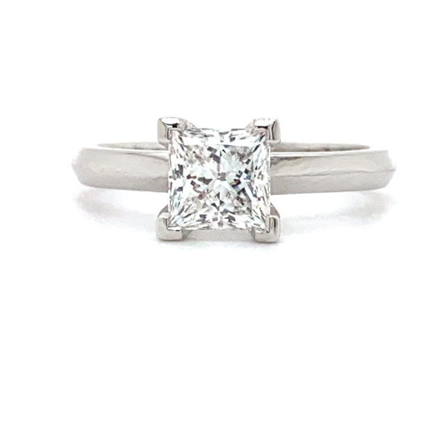 1.05ct E/SI1 Princess Cut Solitaire GIA Certified Diamond