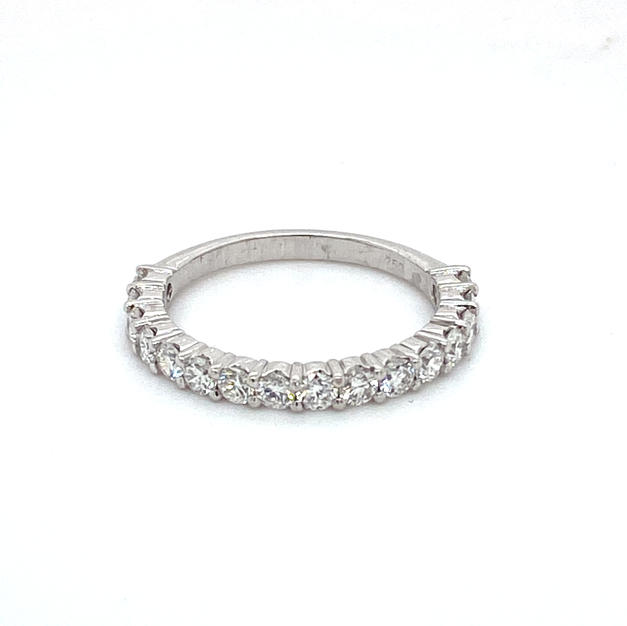 18ct White Gold Shared Claw Half Eternity Band