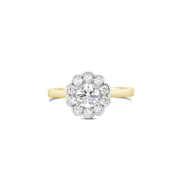 0.50ct G/SI2 Round Brilliant Cut + Daisy Halo