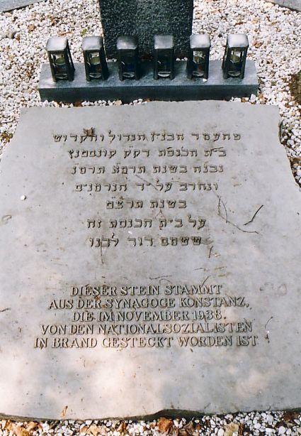 Konstanz Friedhof - Synagogenplatte