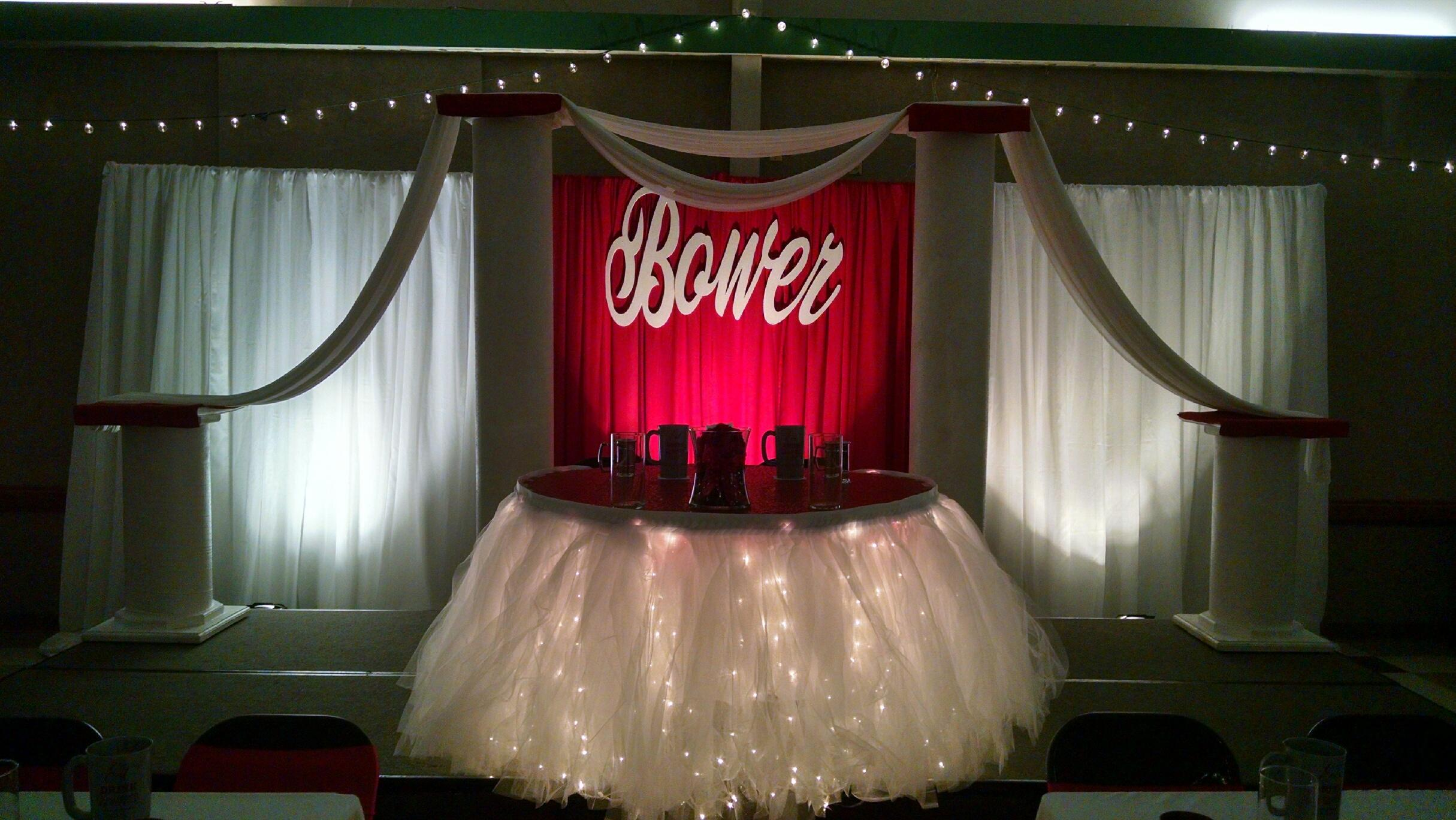 Bower Sweetheart table