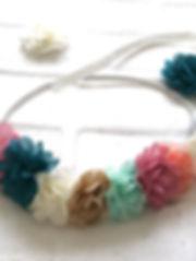 Boucles oreilles créoles pompons et perles