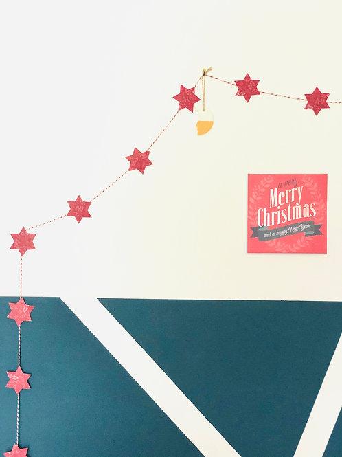 Création d'une guirlande étoilée de Noël en papier