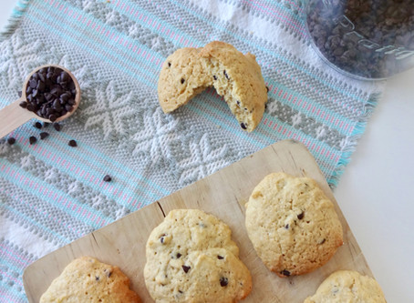 Cookies aux pépites de chocolats sans lactose et sans gluten