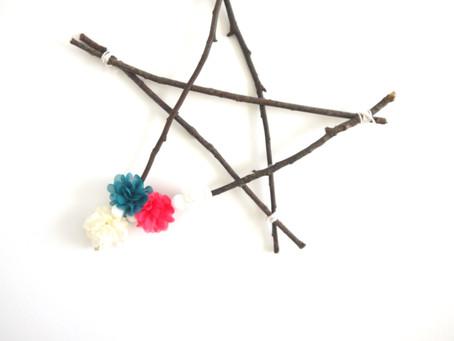 Un DIY Printanier: une étoile avec des branches de bois!