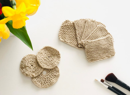Lingettes démaquillantes réutilisables en laine - DIY Green