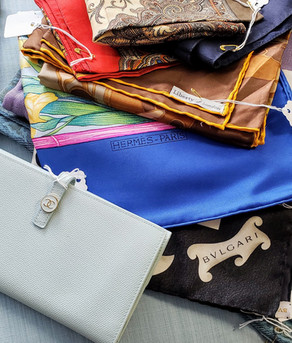 Collection of Designer Purses and Scarves