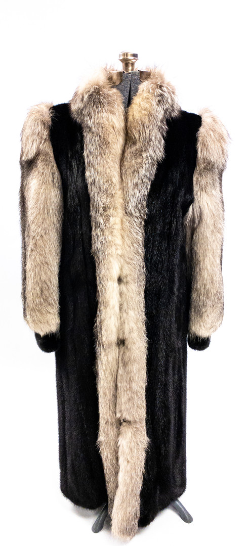 Full Length Ranch Mink/Fox Fur Coat