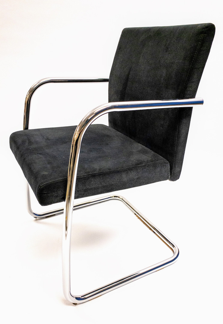 """(4) KEILHAUER """"REEVE"""" GREY WOOL CHAIRS"""