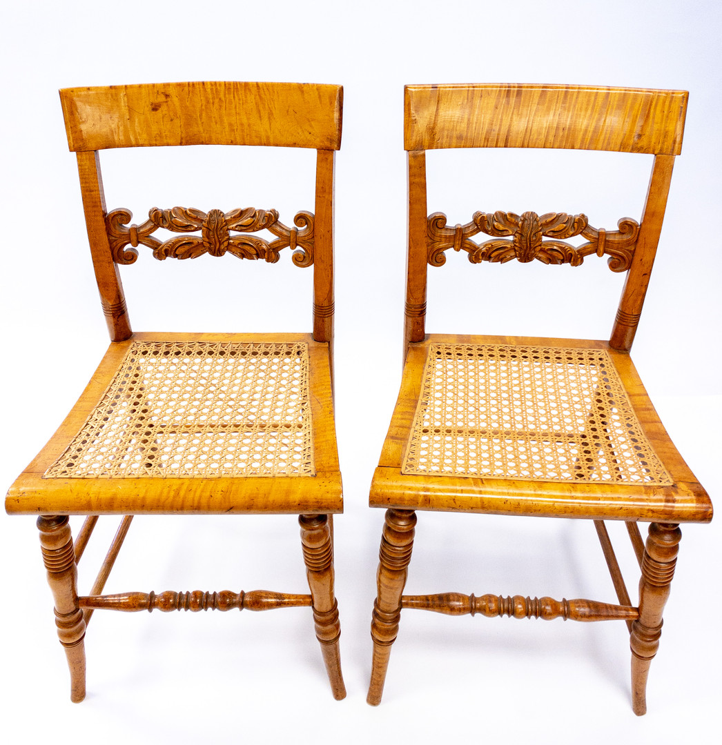 Pair of Fine Tiger Mable Chairs