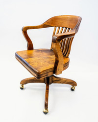Old Wooden Desk Chair