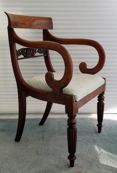 Mahogany Scroll Arm Chair