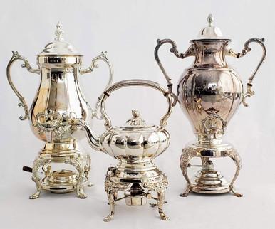 Impressive Silver Plated Tea Urns