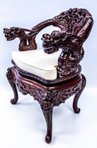 Impressive Carved Chinese Open Armchair