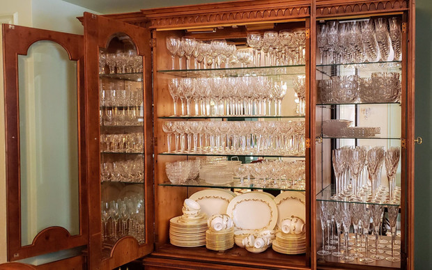 China Cabinet and Cut Crystal