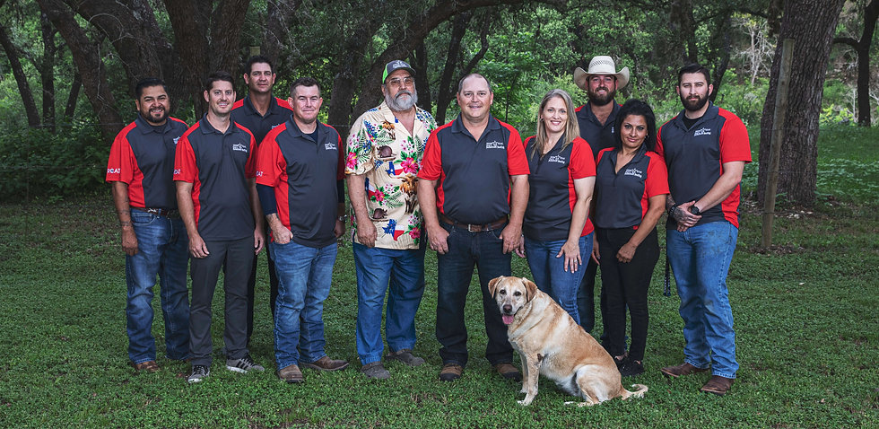 Vogt's Hometown Roofing team photo | group photo of employees | Boerne San Antonio roofing contractors