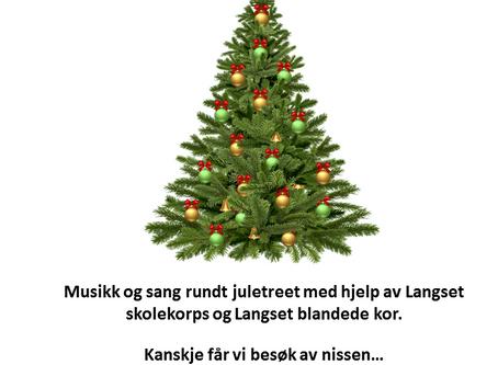 Julegrantenning ved minnesund velhus tirsdag  25.november kl.18:00