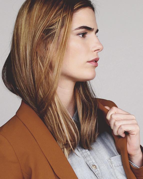 Model in Brown Jacket