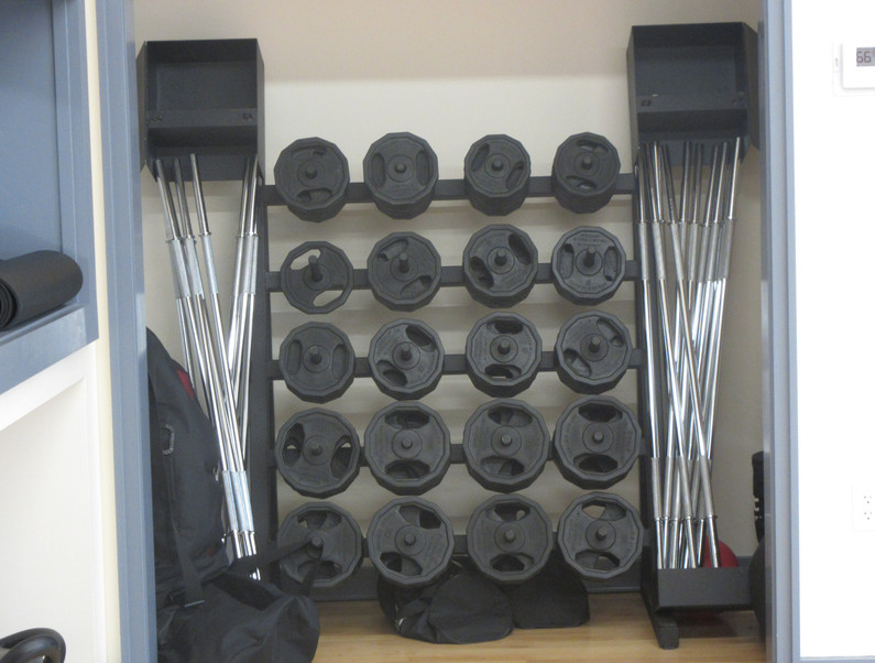 Group Fitness Room Barbells